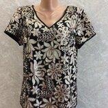 Блуза в цветы паетки размер 12-14 george