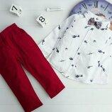 Детский красивый нарядный костюм рубашка, брюки, бабочка