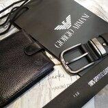 Кожаный мужской ремень Giorgio Armani, Армани реплика