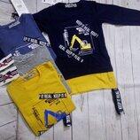 Удлиненные стильные свитшоты для мальчиков 104-134