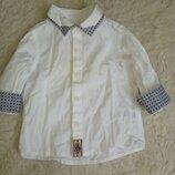 Нарядная сорочка рубашка Next 3-6 мес.