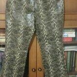 Кожаные брюки р.48