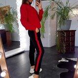 Женский спортивный костюм кофта и брюки в полоску
