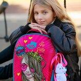 Ранец школьный ортопедический каркасный для девочки DeLune 7mini