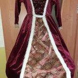 Карнавальное платье Королева 5-6 лет.