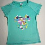 Яркая футболка для девочки на 10-11 лет