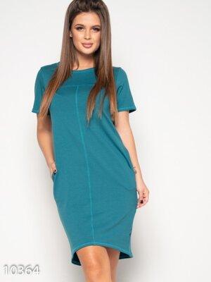 Размер S-3XL. Платье повседневное с карманами.