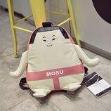 Рюкзак мультяшный принт розовый борец сумо mosu унисекс