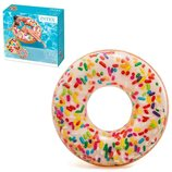 Надувной круг Intex 56263 «Розовый пончик», 114 см