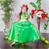 Красивое и легкое платье весны для девочек возрастом от 4 до 6 лет