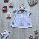 Блузка с вышивкой 12-18 месяцев