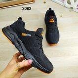 Мужские текстильные кроссовки DITOF черные