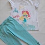 Комплект футболка и лосины для девочки р 92 98