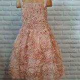 шикарное платье в 3Д розах Маталан 9лет
