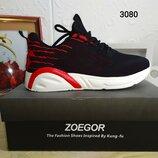 Мужские текстильные кроссовки Zoegor черные