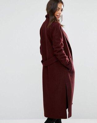 Супер миди пальто прямого покроя