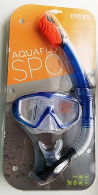 Набор для плавания Intex 55962 размер XXL, 14 , обхват головы 59 см, синий