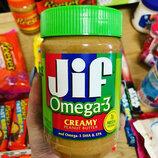 Арахисовая паста Jif Omega 3 454 g