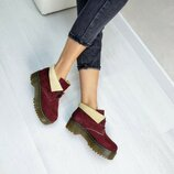 Заршевые демисезонные ботинки на толстой подошве