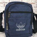 Спортивная сумка-барсетка через плечо Adidas .Тканевая сумка. Кс135-1