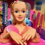 Игрушка кукла-манекен Defa Luc 8415 с аксессуарами, голова-манекен для причесок с плойкой, расческой