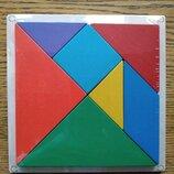 Деревянная головоломка Танграм, квадрат 17х17, Розумний Лис. В наличии.