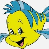 мягкая игрушка лучший друг русалочки Ариель рыбка флаундер disney дисней