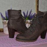 Р. 40 - 26,5 см. полусапожки деми, ботильоны на шнуровке, женская обувь Progetto