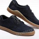 Мужские кожаные туфли в стиле Tommy Hilfiger темно-синие