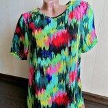 Размер 10 Супер яркая модная фирменная шифоновая блузка