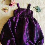 Debenhams Дебенхэмс яро неоновое фиолетовое платье. С шикарным отливом. Пышная юбка Тюльпан. Длина