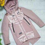 Демисезонная куртка парка для девочки 134-158 р.