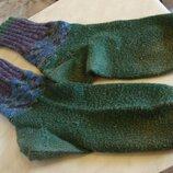 носки зеленые теплые вязаные 41/42 размер