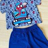 Костюм Fun Day пижама хлопок серо синяя