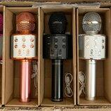 Музыкальный караоке микрофон 858 в коробочке