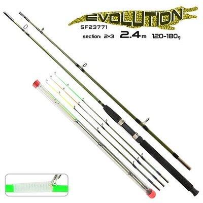 Спиннинг фидер оригинал STENSON Crocodile Evolution 2.4 м 180 г 2 3k SF23771