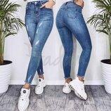 Джинсы женские американка стрейчевые синие весенние 3570 New jeans Н
