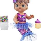 Кукла пупс сияющая русалка брюнетка Baby Alive Mermaid