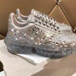 Акция Шикарные Моднейшие Золотые Кроссовки Стиль Jimmy Choo Для Супер Модниц