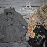 3 - 4 года 104 см Фирменное красивое теплое пальто для девочки Зара Zara