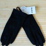 Перчатки Ostin по велюр черные сенсорные