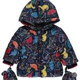 Изумительная курточка для поклонников динозавров от george. размер 12-18 мес