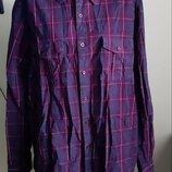 Рубашка в клетку сорочка мужская на 52-54р