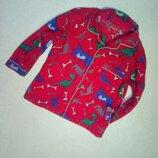 Пижамная кофточка с Динозаврами на мальчика 2/3 года