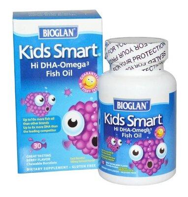 Bioglan Умные детки. Омега-3 с ягодным вкусом, 30 шт. Сша.