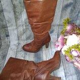 Сапоги кожаные демисезонные 38 размер