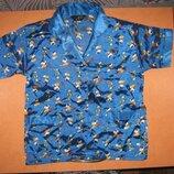 Рубашка атласная пижамная для сна б/у