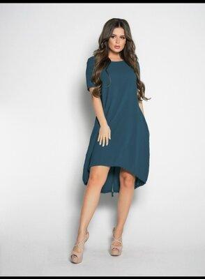 Асимметричное свободное платье S- 5XL