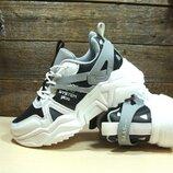 Женские кроссовки Baas Trend System бело-черные 36р-41р