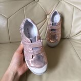 Кожаные кроссовки на девочку 25-30 р. D.D.Step, дидистеп, степ, кожанные, кросовки, туфли, кеди